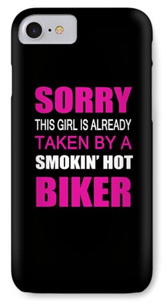 Taken By A Biker IPhone Case