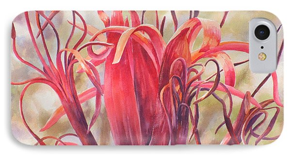 Tendrils Gymea Lily   Phone Case by Ekaterina Mortensen