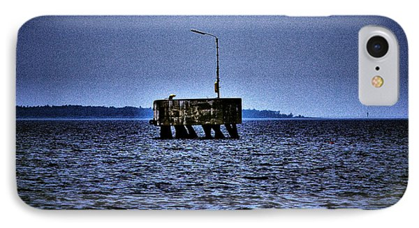 IPhone Case featuring the photograph  The Dock Of Loneliness by Jouko Lehto