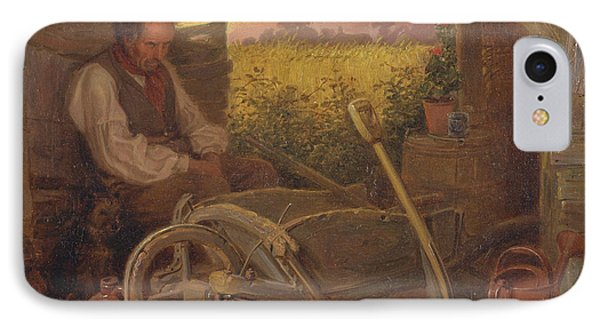 The Old Gardener IPhone Case by Celestial Images