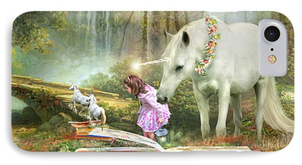 The Unicorn Book Of Magic IPhone Case by Trudi Simmonds