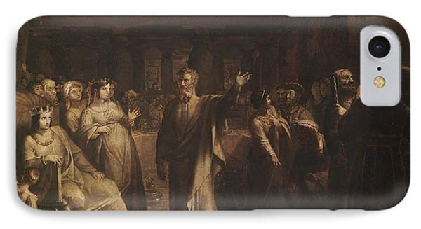 Title Study For Belshazzars Feast IPhone Case