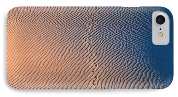 Tracks At First Light In Death Valley Phone Case by Sandra Bronstein