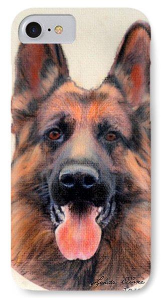 Tribute To The German Shepherd Phone Case by Linda Diane Taylor