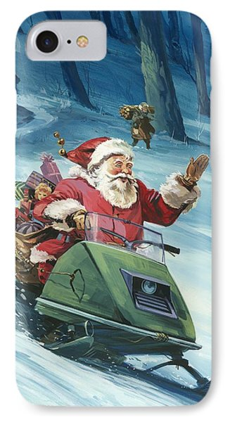 Twentieth Century Santa  IPhone Case by English School