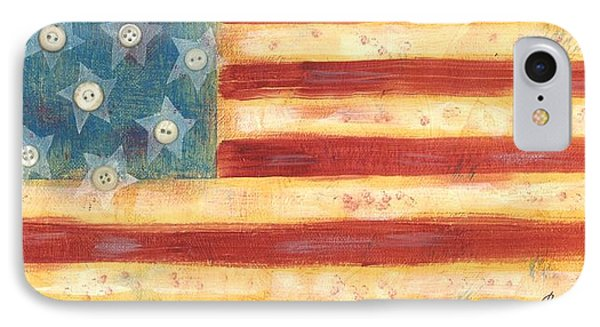 U.s. Flag Vintage IPhone Case by Carol Neal