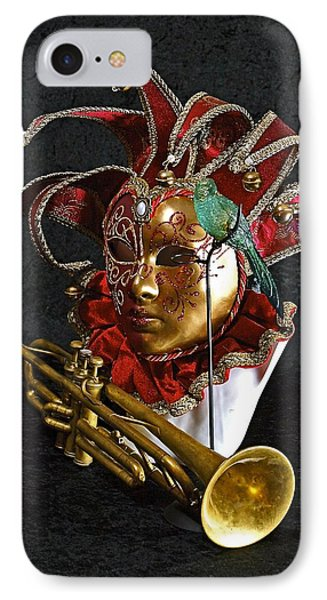 IPhone Case featuring the photograph  Venitian Joker by Elf Evans