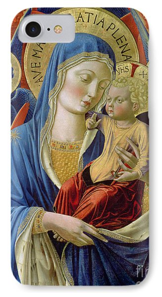 Virgin And Child With Angels IPhone Case
