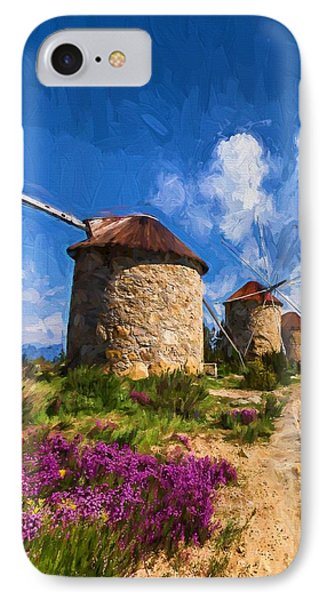 Windmills Of Portugal IPhone Case