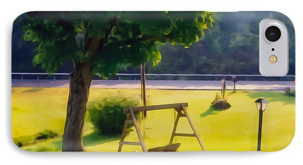 Wooden Swing In The Garden IPhone Case by Lanjee Chee
