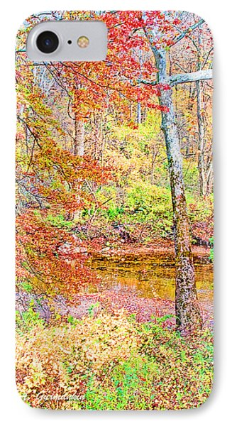 IPhone Case featuring the photograph  Woods In Autumn Montgomery Cty Pennsylvania by A Gurmankin