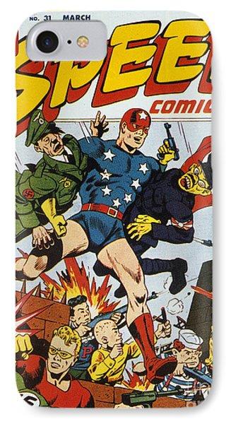 World War II: Comic Book Phone Case by Granger