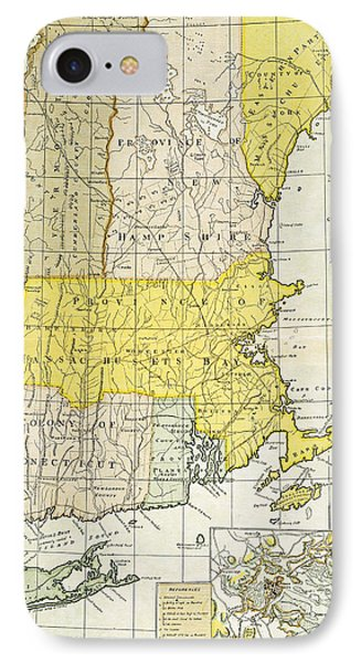 New England Map, C1775 Phone Case by Granger