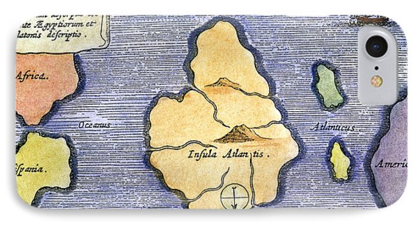 Map Of Atlantis, 1678 IPhone Case by Granger