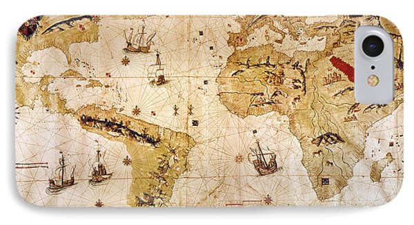 Vespucci's World Map, 1526 Phone Case by Granger