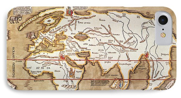 Waldseemuller: World Map Phone Case by Granger