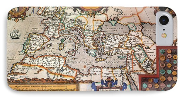 Map Of The Roman Empire Phone Case by Granger