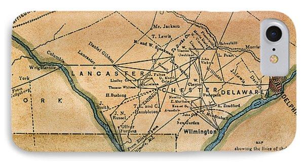 Underground Railroad Map Phone Case by Granger