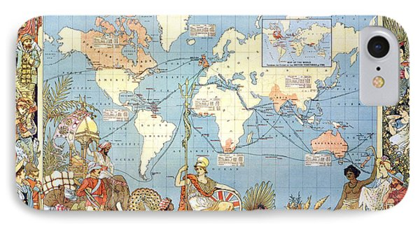 Map: British Empire, 1886 Phone Case by Granger