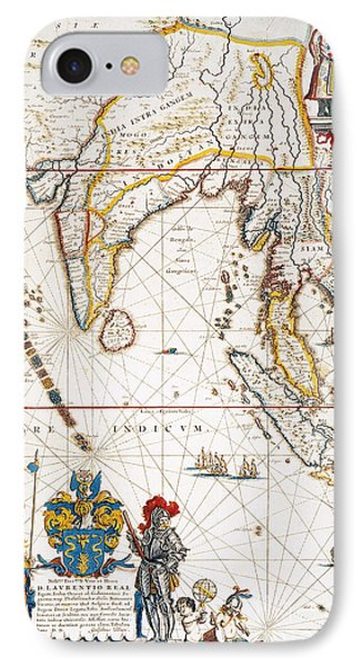 South Asia Map, 1662 Phone Case by Granger