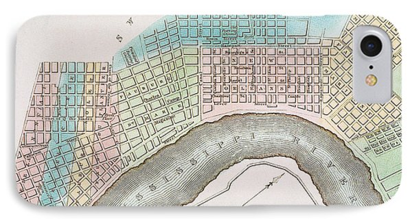 New Orleans Map, 1837 Phone Case by Granger