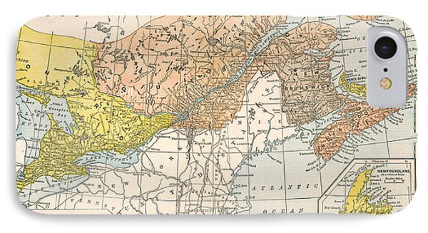 Map: Eastern Canada IPhone Case by Granger