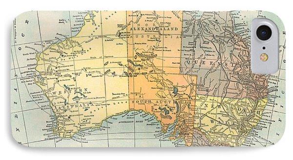 Map: Australia, C1890 Phone Case by Granger