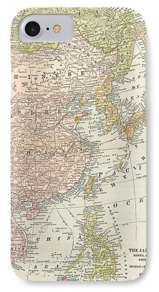 Map: East Asia, 1907 Phone Case by Granger