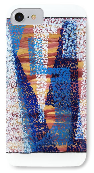 01325 Blue Too Phone Case by AnneKarin Glass