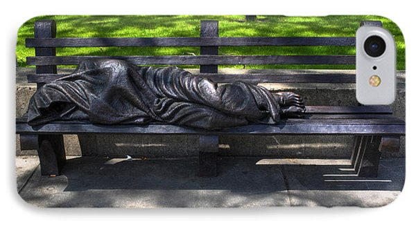 02 Homeless Jesus By Timothy P Schmalz IPhone Case by Michael Frank Jr