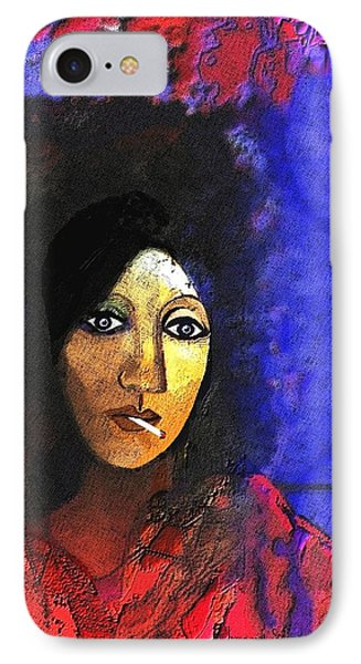 032 - Marie In The Morning  IPhone Case by Irmgard Schoendorf Welch