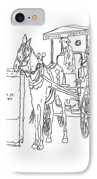 04061025 Horse And Buggy IPhone Case by Garland Oldham