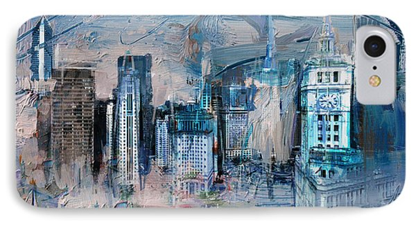 072 Wrigley Buildings In Chicago. IPhone Case