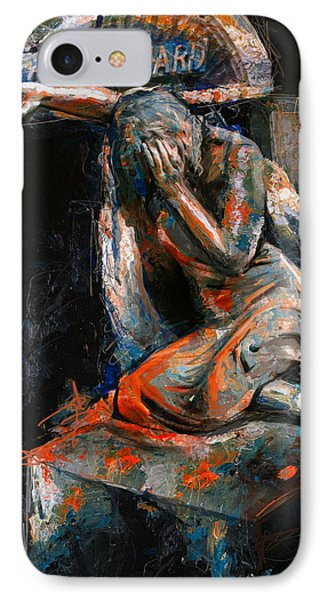 073 Weeping Lady F.w. Blanchard Grave Monument- Hollywood Forever Cemetery IPhone Case