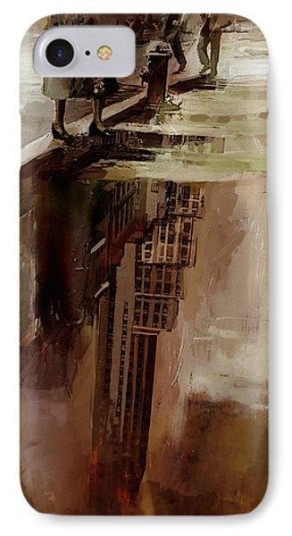 086 Rockefeller Center Reflection0 IPhone Case by Mahnoor Shah