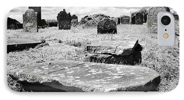 17th And 18th Century Tombs And Headstones In Tydavnet Old Cemetery County Monaghan Republic Of Irel IPhone Case by Joe Fox