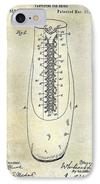 1896 Shoe Patent  IPhone 7 Case by Jon Neidert