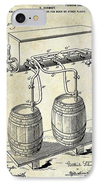 1900 Beer Keg System Patent IPhone Case by Jon Neidert