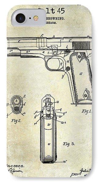 1911 Colt 45 Firearm Patent IPhone Case