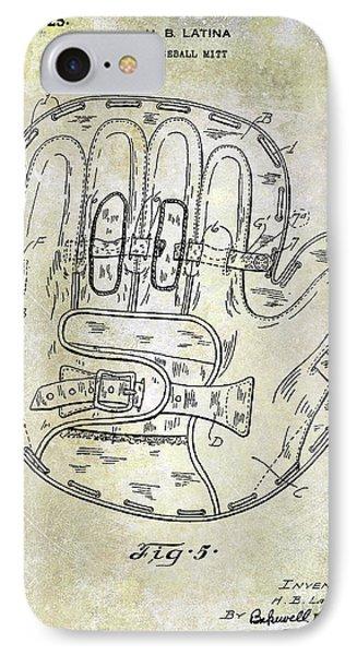 1925 Baseball Glove Patent IPhone Case