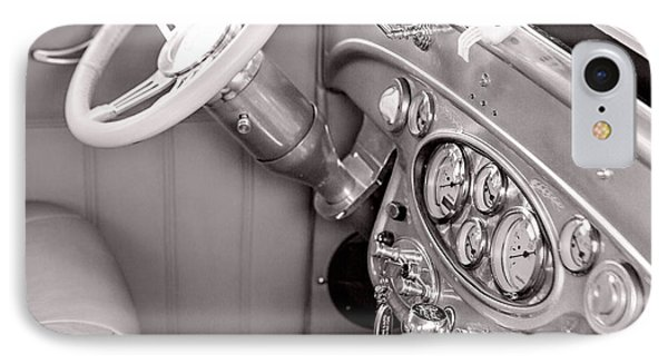1929 Chevrolet Classic Car Automobile Dashboard Sepia 3130.01 IPhone Case by M K  Miller