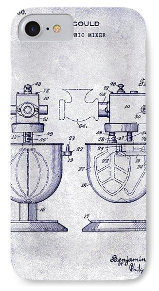 1930 Electric Mixer Patent Blueprint IPhone Case