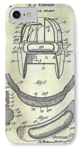1932 Football Helmet Patent IPhone Case by Jon Neidert