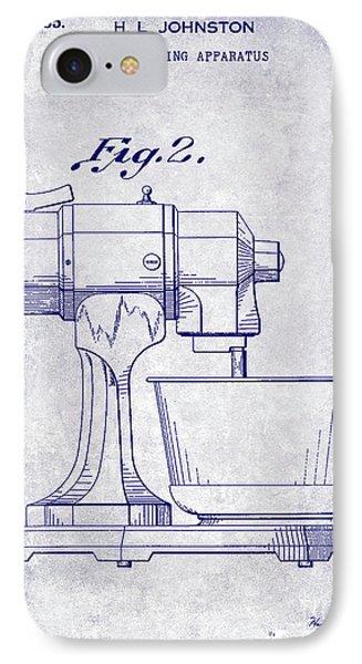 1935 Food Mixing Apparatus Patent Blueprint IPhone Case