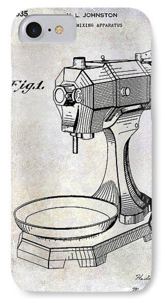 1935 Food Mixing Apparatus Patent IPhone Case