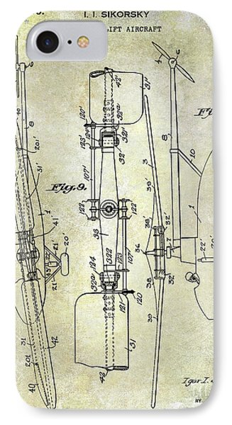 Helicopter iPhone 7 Case - 1935 Helicopter Patent  by Jon Neidert