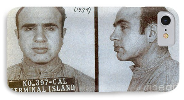 1939 Al Capone Mugshot IPhone Case by Jon Neidert