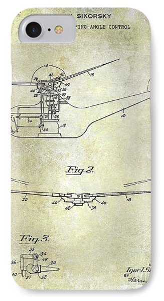 1947 Helicopter Patent IPhone 7 Case by Jon Neidert