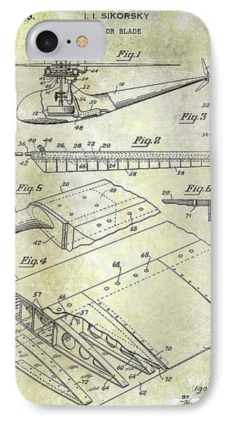 1949 Helicopter Patent IPhone 7 Case by Jon Neidert