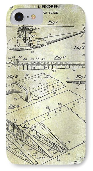 1949 Helicopter Patent IPhone Case